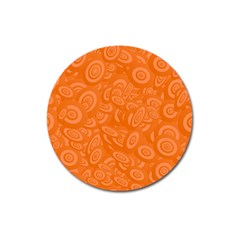 Orange Abstract 45s Magnet 3  (round) by StuffOrSomething