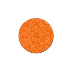 Orange Abstract 45s Golf Ball Marker by StuffOrSomething