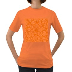 Orange Abstract 45s Women s T Shirt (colored) by StuffOrSomething