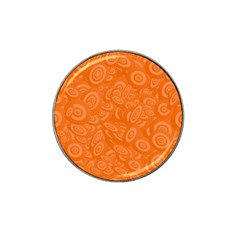 Orange Abstract 45s Golf Ball Marker (for Hat Clip)