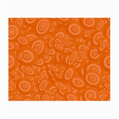 Orange Abstract 45s Glasses Cloth (Small, Two Sided) by StuffOrSomething