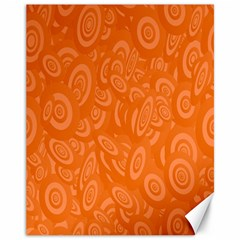 Orange Abstract 45s Canvas 11  X 14  (unframed) by StuffOrSomething
