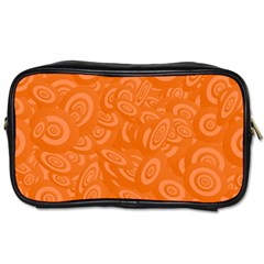 Orange Abstract 45s Travel Toiletry Bag (one Side) by StuffOrSomething