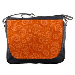 Orange Abstract 45s Messenger Bag by StuffOrSomething