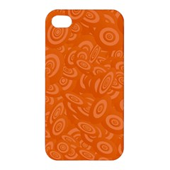 Orange Abstract 45s Apple Iphone 4/4s Premium Hardshell Case by StuffOrSomething