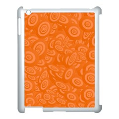 Orange Abstract 45s Apple Ipad 3/4 Case (white) by StuffOrSomething