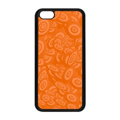 Orange Abstract 45s Apple Iphone 5c Seamless Case (black) by StuffOrSomething