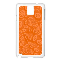 Orange Abstract 45s Samsung Galaxy Note 3 N9005 Case (white) by StuffOrSomething