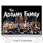 The Addams Family Calendar - Wall Calendar 11  x 8.5  (18 Months)