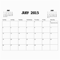 The Addams Family Calendar By Joey Mcdaniel   Wall Calendar 11  X 8 5  (18 Months)   Ne3mavok818e   Www Artscow Com Jul 2015