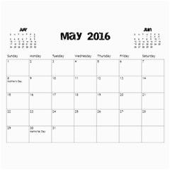 The Addams Family Calendar By Joey Mcdaniel   Wall Calendar 11  X 8 5  (18 Months)   Ne3mavok818e   Www Artscow Com May 2016
