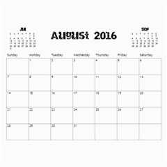 The Addams Family Calendar By Joey Mcdaniel   Wall Calendar 11  X 8 5  (18 Months)   Ne3mavok818e   Www Artscow Com Aug 2016