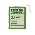 Power Grid Bags (M) - Green - Drawstring Pouch (Medium)