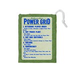 Power Grid Bags (M) - Blue - Drawstring Pouch (Medium)