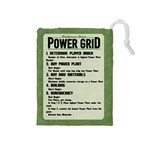 Power Grid Bags (M) - Black - Drawstring Pouch (Medium)