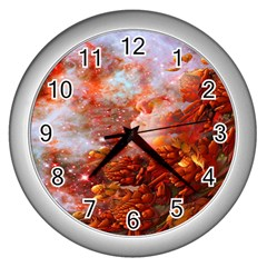 Star Dream Wall Clock (silver) by icarusismartdesigns