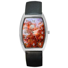 Star Dream Tonneau Leather Watch by icarusismartdesigns