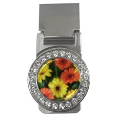Orange Yellow Daisy Flowers Gerbera Money Clip (cz)
