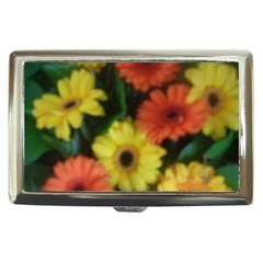 Orange Yellow Daisy Flowers Gerbera Cigarette Money Case