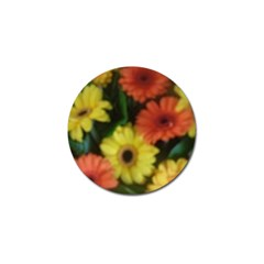 Orange Yellow Daisy Flowers Gerbera Golf Ball Marker 4 Pack by yoursparklingshop