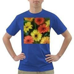 Orange Yellow Daisy Flowers Gerbera Men s T Shirt (colored)
