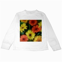 Orange Yellow Daisy Flowers Gerbera Kids Long Sleeve T Shirt