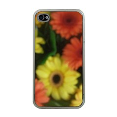 Orange Yellow Daisy Flowers Gerbera Apple Iphone 4 Case (clear) by yoursparklingshop
