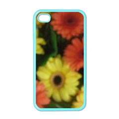 Orange Yellow Daisy Flowers Gerbera Apple Iphone 4 Case (color) by yoursparklingshop