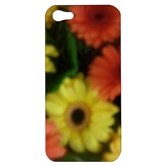Orange Yellow Daisy Flowers Gerbera Apple Iphone 5 Hardshell Case by yoursparklingshop