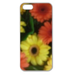 Orange Yellow Daisy Flowers Gerbera Apple Seamless Iphone 5 Case (clear)