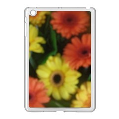 Orange Yellow Daisy Flowers Gerbera Apple Ipad Mini Case (white) by yoursparklingshop