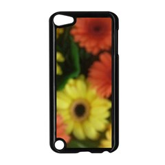 Orange Yellow Daisy Flowers Gerbera Apple Ipod Touch 5 Case (black) by yoursparklingshop