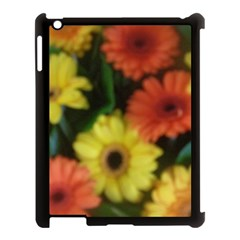 Orange Yellow Daisy Flowers Gerbera Apple Ipad 3/4 Case (black) by yoursparklingshop