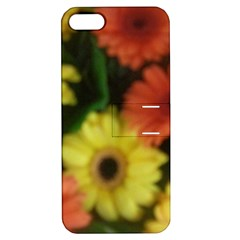 Orange Yellow Daisy Flowers Gerbera Apple Iphone 5 Hardshell Case With Stand by yoursparklingshop