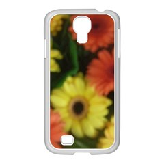 Orange Yellow Daisy Flowers Gerbera Samsung Galaxy S4 I9500/ I9505 Case (white) by yoursparklingshop