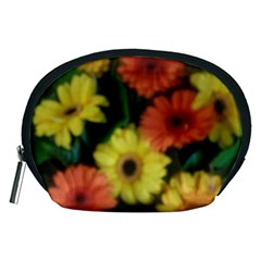 Orange Yellow Daisy Flowers Gerbera Accessory Pouch (medium)