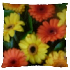 Orange Yellow Daisy Flowers Gerbera Standard Flano Cushion Case (one Side) by yoursparklingshop