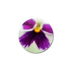 Inside Purple White Violet Flower Golf Ball Marker 10 Pack