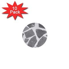 Grey White Tiles Pattern 1  Mini Button (10 Pack) by yoursparklingshop