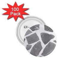 Grey White Tiles Pattern 1 75  Button (100 Pack)