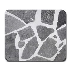 Grey White Tiles Pattern Large Mouse Pad (rectangle)