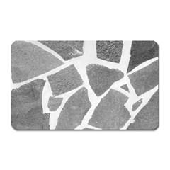Grey White Tiles Pattern Magnet (rectangular)