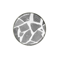 Grey White Tiles Pattern Golf Ball Marker 10 Pack (for Hat Clip) by yoursparklingshop