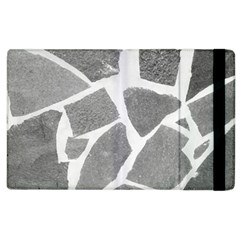 Grey White Tiles Pattern Apple Ipad 2 Flip Case by yoursparklingshop