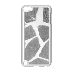 Grey White Tiles Pattern Apple iPod Touch 5 Case (White) by yoursparklingshop
