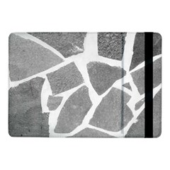 Grey White Tiles Pattern Samsung Galaxy Tab Pro 10 1  Flip Case