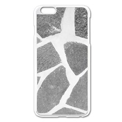 Grey White Tiles Pattern Apple Iphone 6 Plus Enamel White Case