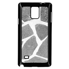 Grey White Tiles Pattern Samsung Galaxy Note 4 Case (Black) by yoursparklingshop