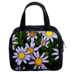 Yellow White Daisy Flowers Classic Handbag (two Sides) by yoursparklingshop
