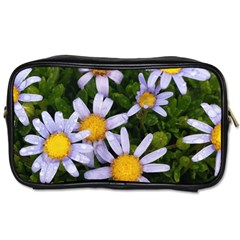 Yellow White Daisy Flowers Travel Toiletry Bag (one Side) by yoursparklingshop